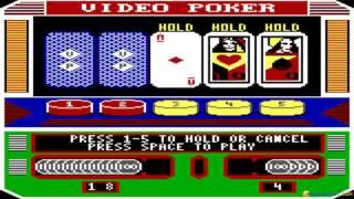 Video Casino gameplay (PC Game, 1987)