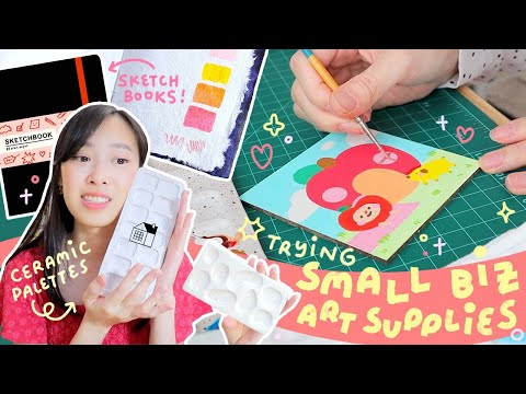 ✸ TRYING SMALL BUSINESS ART SUPPLIES ✸ SugarHouse Ceramic Co