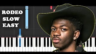 Lil Nas X - Rodeo ft Cardi B (SLOW EASY PIANO TUTORIAL)