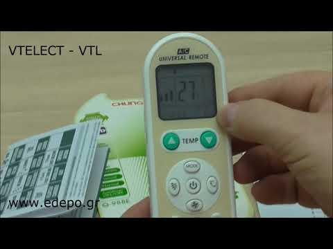 Αντικατάσταση χειριστήριου air condition με το UNIVERSAL πολυχειριστήριο Q-988E | VTELECT - VTL