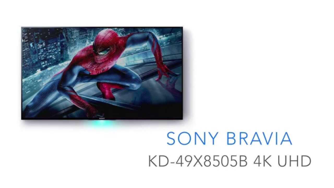 sony bravia kd 49x8505b 4k ultra hd fernseher youtube. Black Bedroom Furniture Sets. Home Design Ideas