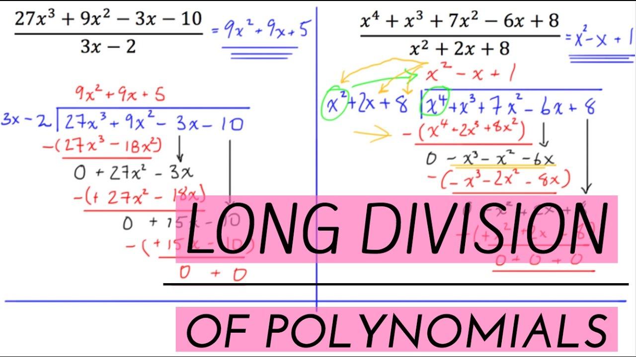 long division of polynomials pdf