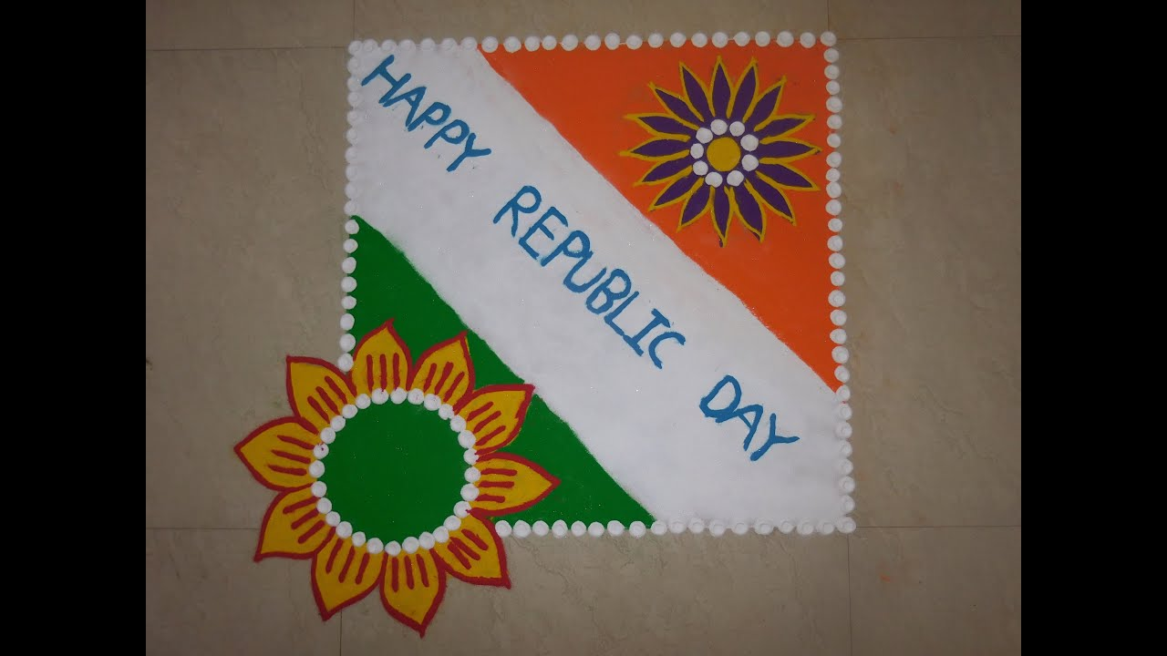 Best Ultimate Patriotic Independence Day Kolam Designs pictures for free download