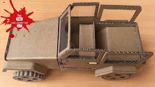 How To Make RC Car(Jeep Wrangler) Amazing Cardboard Car (Part 1) - Đồ Chơi Trẻ Em | GÓC SÁNG TẠO 247