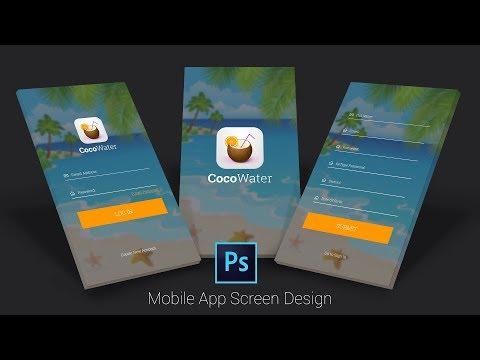 Apps Design Tutorial   Adobe Photoshop CC   UI/UX Design