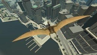 grand theft auto iv pterodactyl dinosaur mod hd