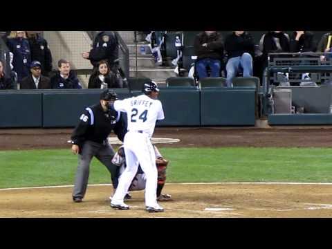 Ken Griffey Jr Hits a Single vs the Orioles LIVE HD