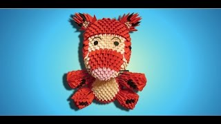 3d Origami Tigger Tutorial - Part 1