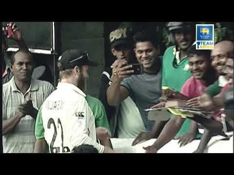 Kane Williamson celebrates his Birthday with Sri Lankan fans