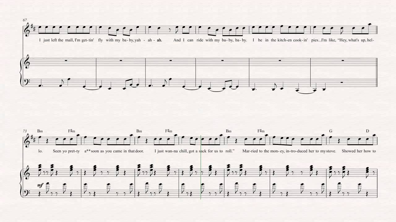 Trumpet trap queen fetty wap sheet music chords vocals youtube