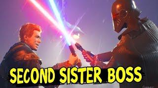 MEETING THE SECOND SISTER Boss Fight - Star Wars Jedi Fallen Order (PS4 Pro)