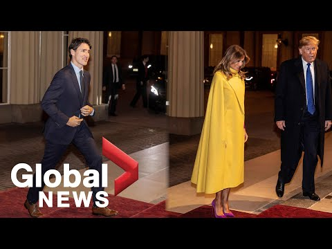 Trudeau, Trump and other world leaders arrive at Buckingham Palace for Queen's reception