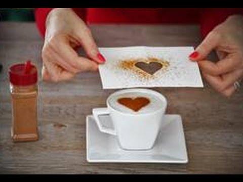 Como fazer um coração na xícara de café da manhã