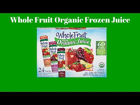 FoodMania Review: WWYEW - Whole Fruit Organic Frozen Juice