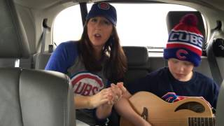 Go Cubs Go Song! Mom and Son Having Fun! Game 1 NLCS