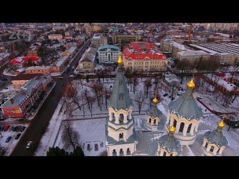 Житомир зимний с высоты птичьего полета ( Zhitomir winter from the height of the bird's flight)