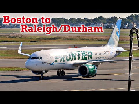 Full Flight: Frontier Airlines A320neo Boston To Raleigh/Durham (BOS-RDU)
