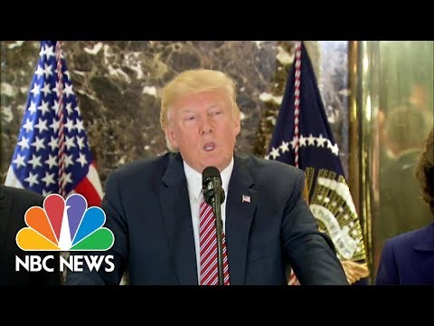 President Donald Trump on Charlotteville: I Think There's Blame on Both Sides | NBC News