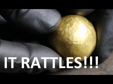 24K Pure Gold Foil Ball