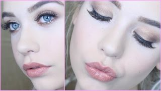 gold glam full face tutorial special occasion makeup