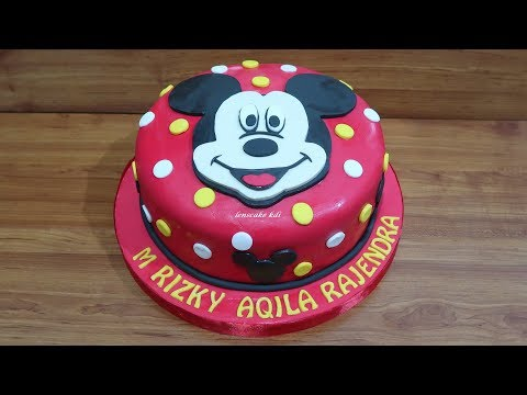 How to Decorating Cake Birthday Mickey Mouse - How to Make Cake Unique
