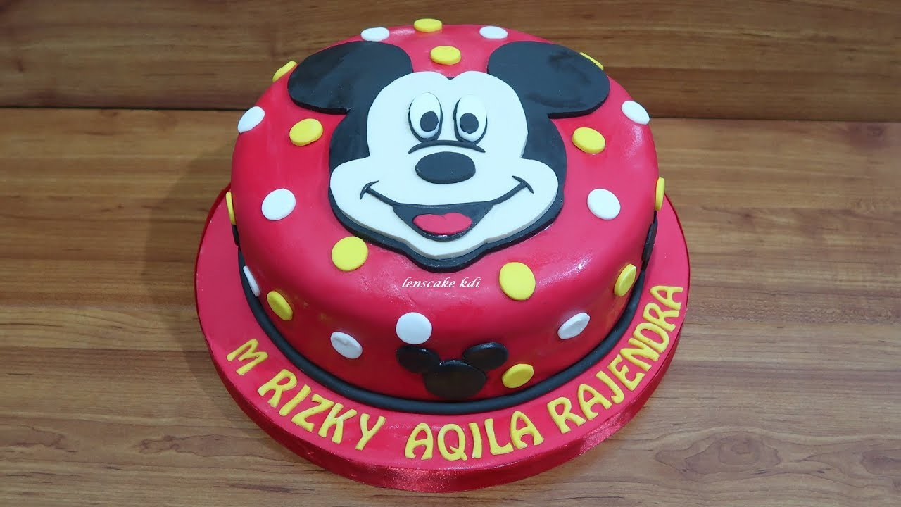 How To Decorating Cake Birthday Mickey Mouse How To Make Cake Unique