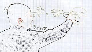 Задача Сложение и вычитание алгебраических дробей с разными знаменателями #3