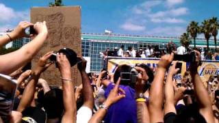 Lakers victory parade 2010!