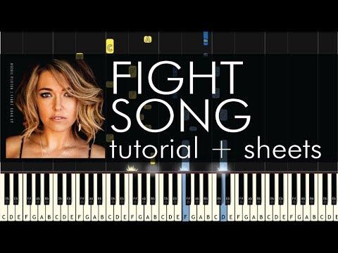 Rachel Platten - Fight Song - Piano Tutorial + Sheets