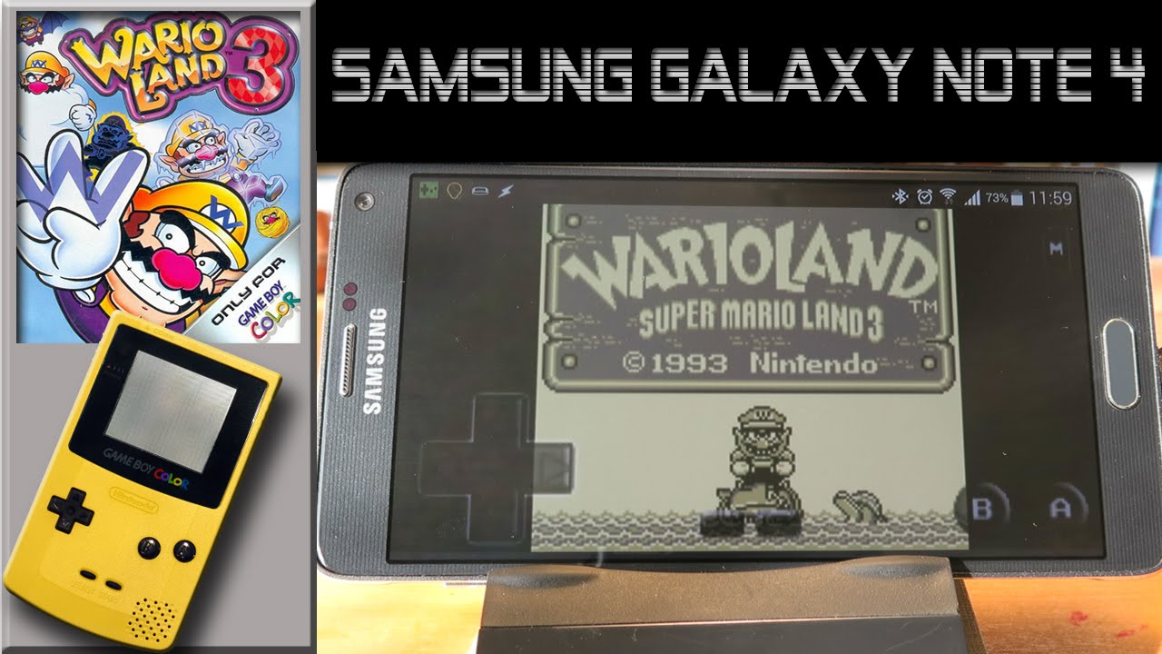 Gameboy color ad - Gameboy Color Emulator On Samsung Galaxy Note 4 Warioland Super Mario Land3 G B Ad