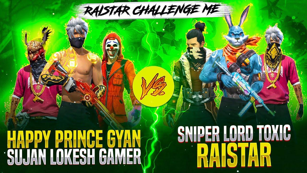 Raistar Vs HappyPrince & GyanBhai ❤️🤯 Intence Battle Must Watch🔥🥵 - Who will Win? - Garena Free Fire