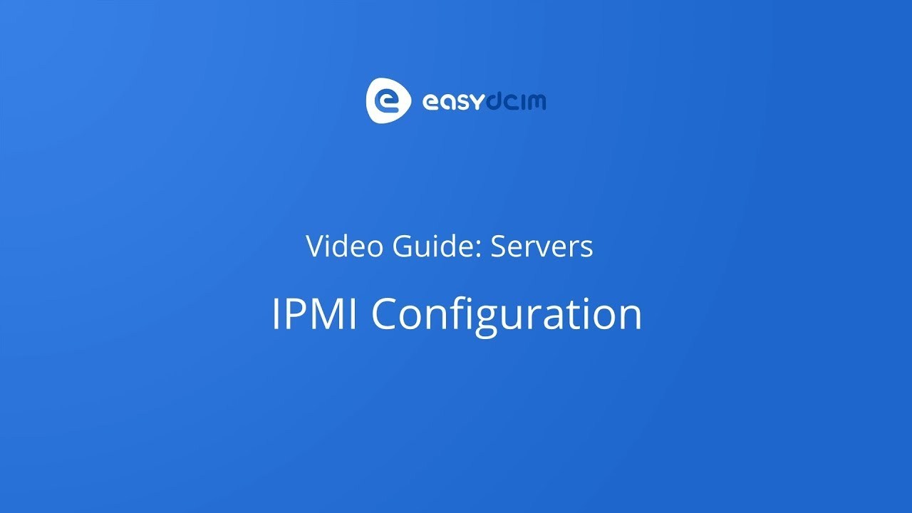 IPMI Integration - EasyDCIM Documentation