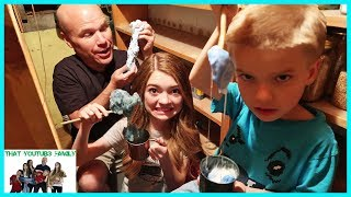 Making Slime In An Old Cellar / That YouTub3 Family