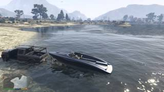 Grand Theft Auto V- Boats and trailers don't mix