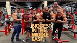 5 BIGGEST BODYBUILDERS IN MIDDLE EAST TRAIN ARMS!