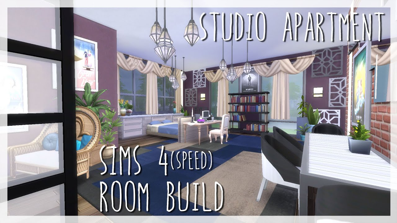 Studio Apartment Building studio apartment | sims 4 room build - youtube