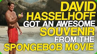 David Hasselhoff Got An Awesome Souvenir From The Spongebob Movie (My Birthday!)