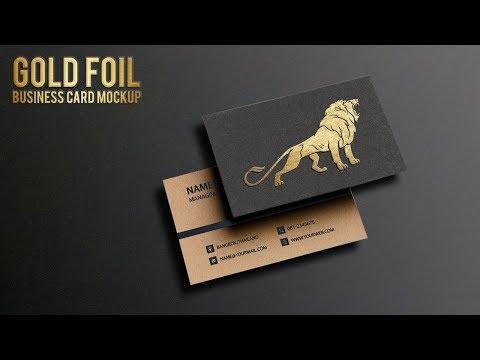 How To Create Gold Foil Business Card Mockup | Metallic Foil Logo Mockup | Adobe Photoshop CC