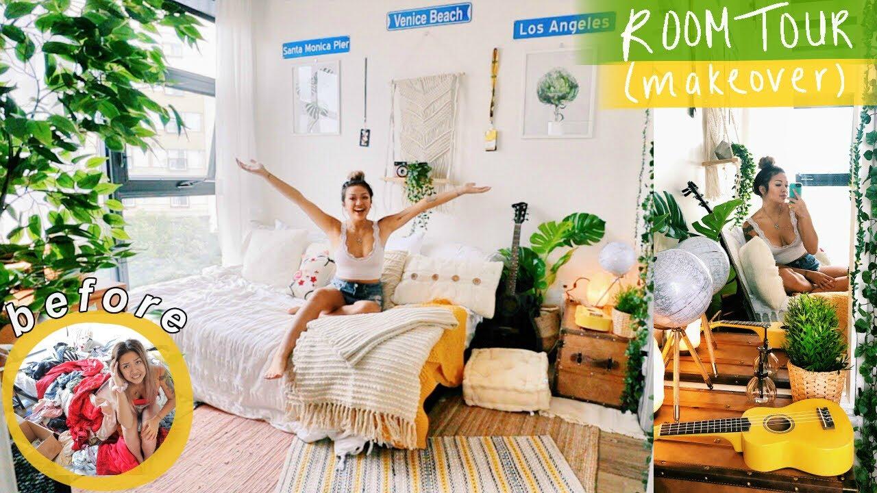 Vsco Bedroom Makeover Room Tour 2019 Youtube