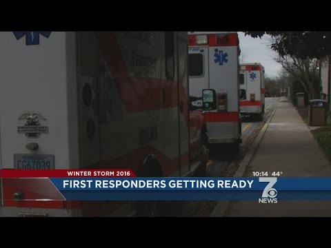 EMS agencies prepare for snowstorm