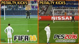 FIFA 16 vs. PES 2016: Penalty Kicks