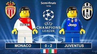 Monaco vs Juventus 0-2 • Semi-finals Champions League 2017 • Highlights Lego Football (03/05/2017)