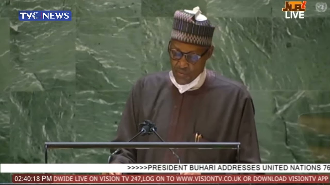 Download [FULL VIDEO] President Buhari's Speech At The United Nations General Assembly