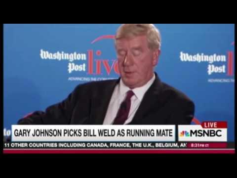 Rachel Maddow praise for Bill Weld and  Praise for Gary Johnson