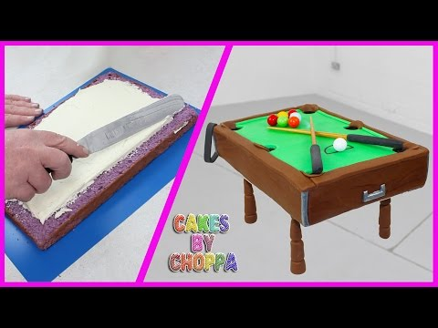 PLAYABLE POOL TABLE CAKE (How To)