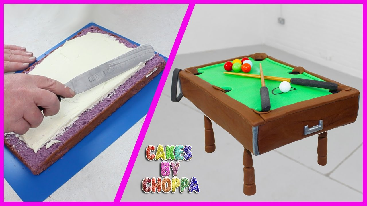 Playable Pool Table Cake How To Youtube