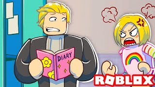 I Read My Crushes Diary And She Found Out... | Roblox Roleplay
