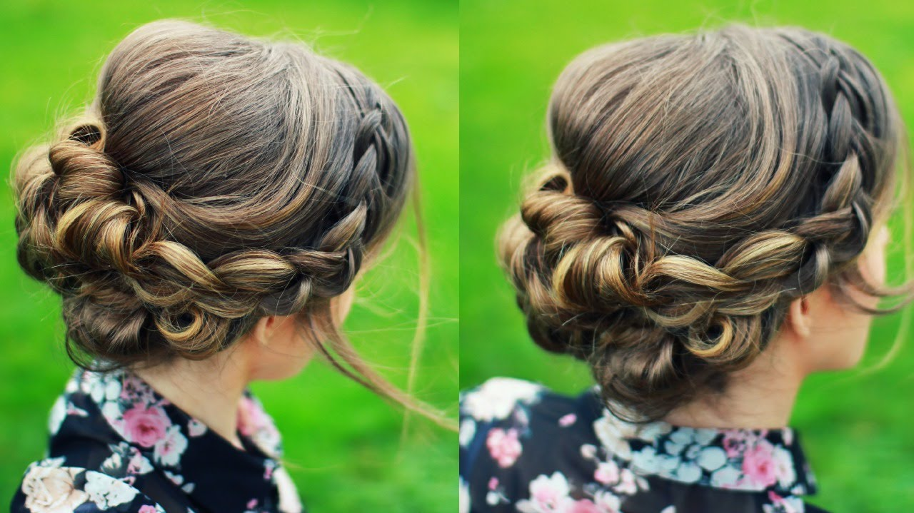 bridal updo / updo hair tutorial | braidsandstyles12