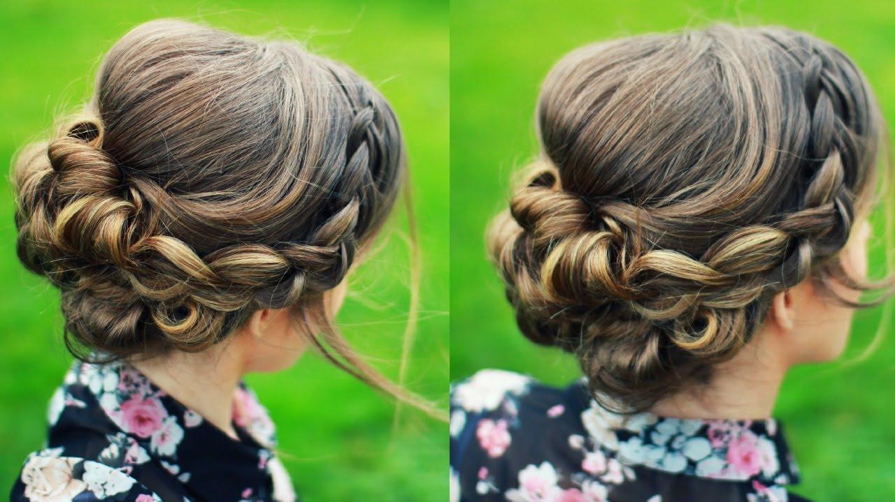 bridal updo hair tutorial