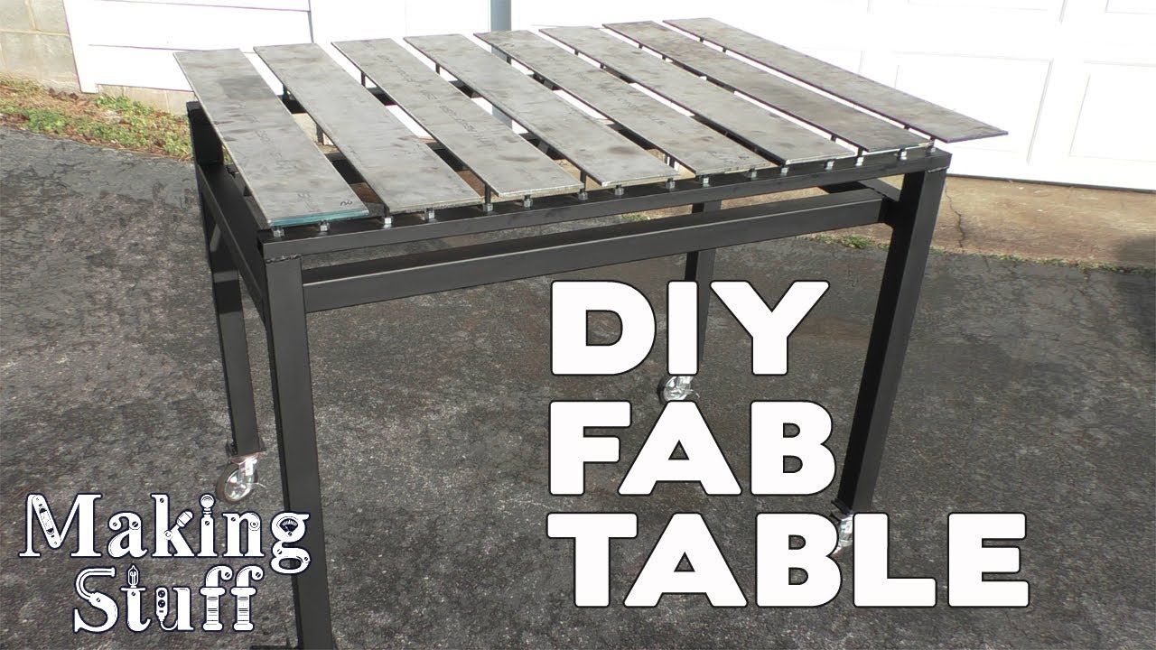 Diy Welding Fabrication Table Stronghand On A Budget Youtube